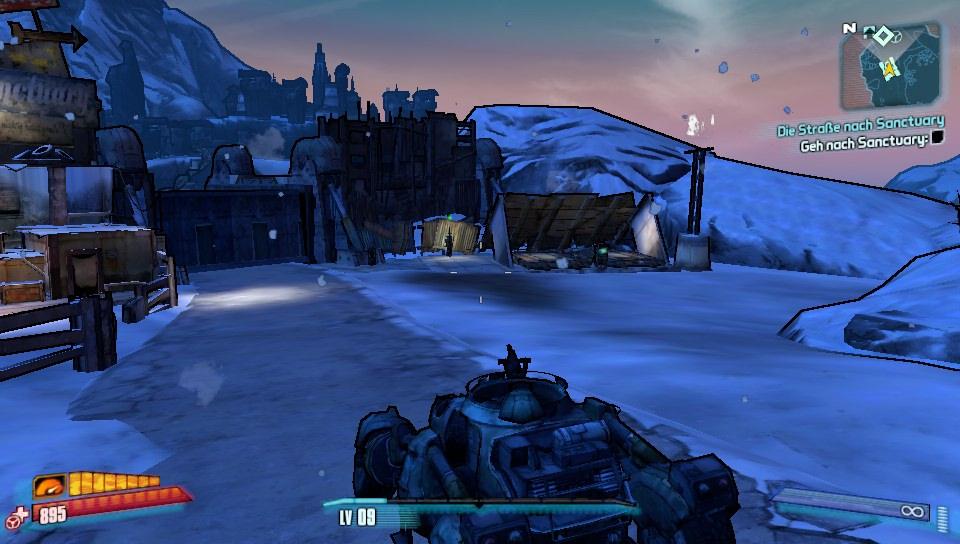"""Sanctuary ist eine Art Hauptstadt der """"Guten"""" in Borderlands 2. Dort gibt es neben allerlei Leuten auch noch Waffen und viele Missionen..."""