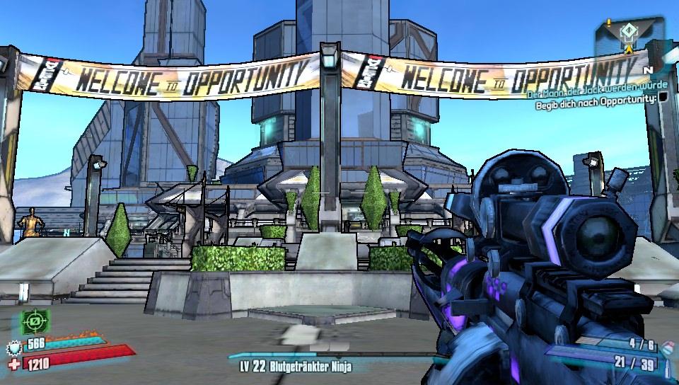 Willkommen in der Stadt Opportunity in Borderlands 2 auf PS Vita!