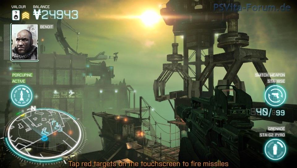 So atemberaubend sieht die In-Game-Grafik von Killzone Mercenary aus.